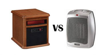 infrared vs ceramic space heater