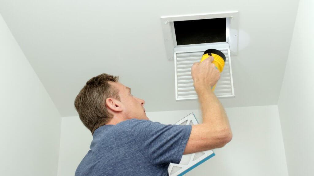 HVAC maintenance blocked vents