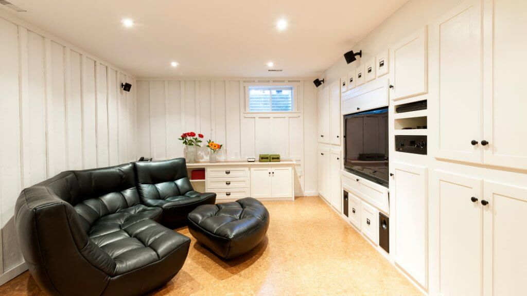 Making use of a heated basement as extra living space